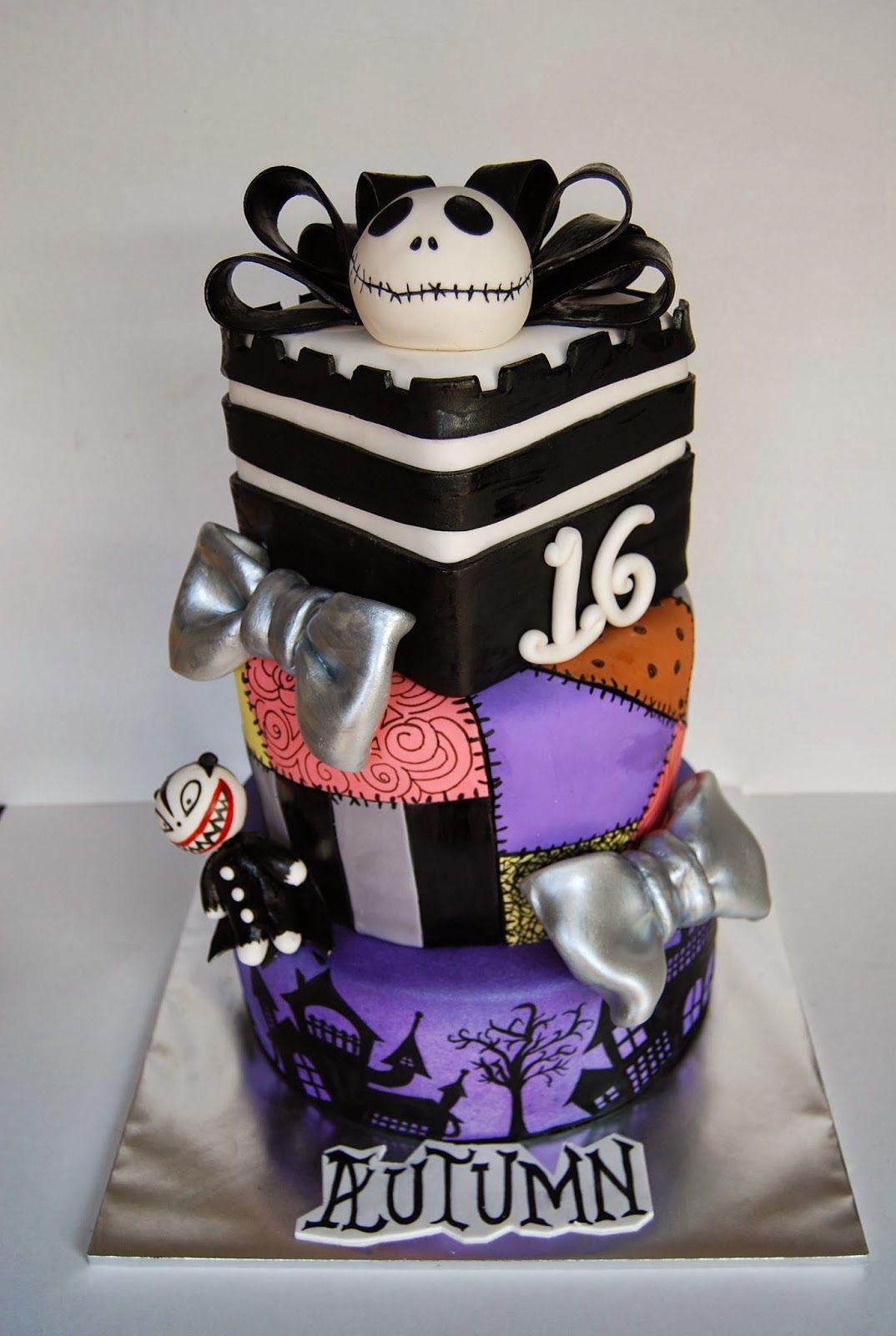 Nightmare Before Christmas Sweet 16th Birthday Cake Sweet