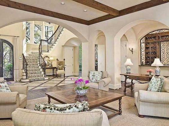 Genial Luxury Farmhouse Interiors | Luxury House Plans, Mediterranean House Plans  And House .