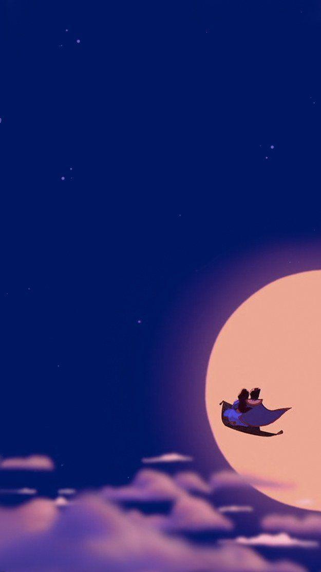 月とアラジンの壁紙