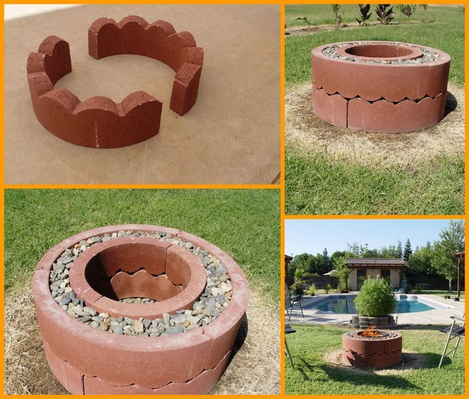 old concrete tree rings - easy diy #firepit