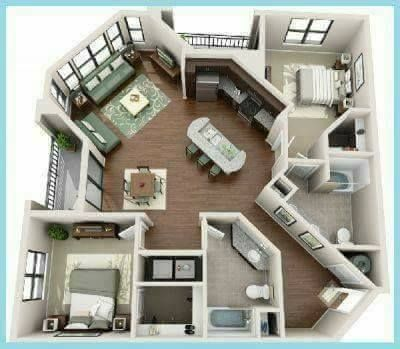 ¡15 Planos inteligentes en 3D necesitas para construir la casa de tus sueños! - Ideas Perfectas #casaspequeñas