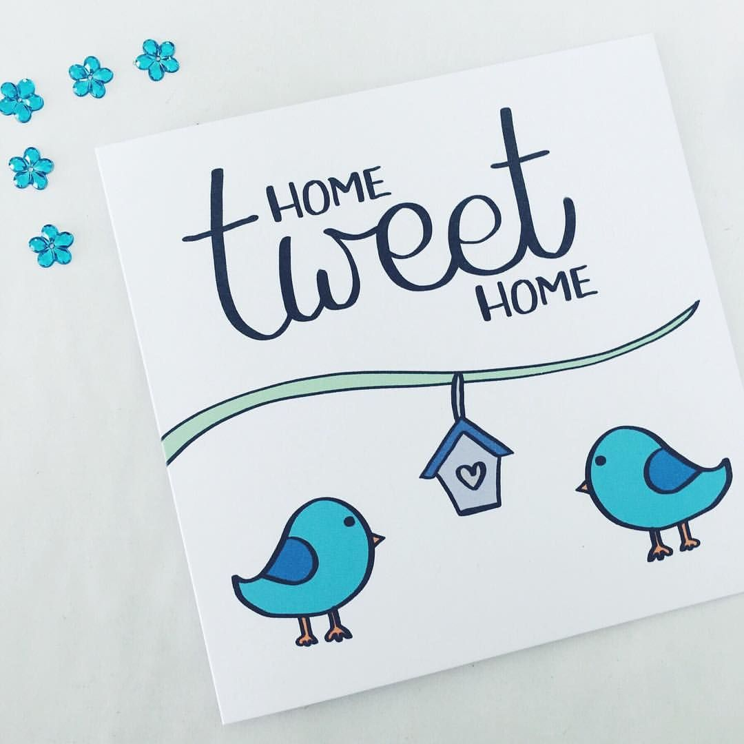 Home Tweet Home, home sweet home, lovebirds, new home card, moving ...