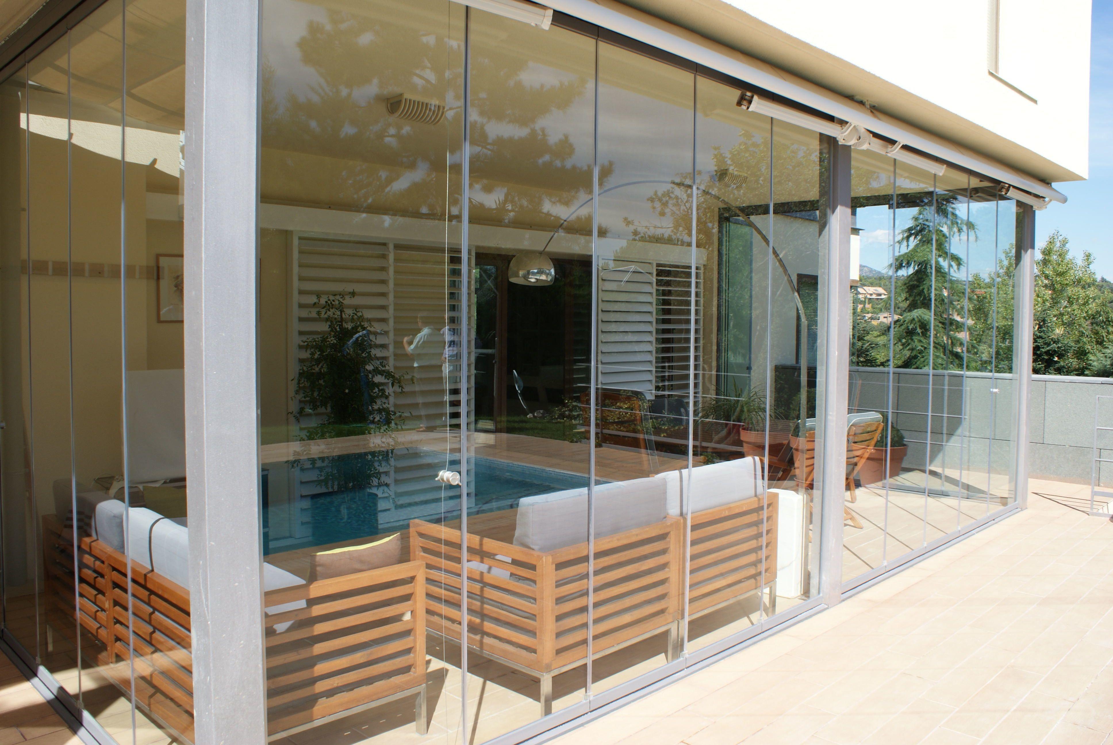 Fraimar alimunios s l cortinas de cristal techos - Porches de aluminio y cristal ...