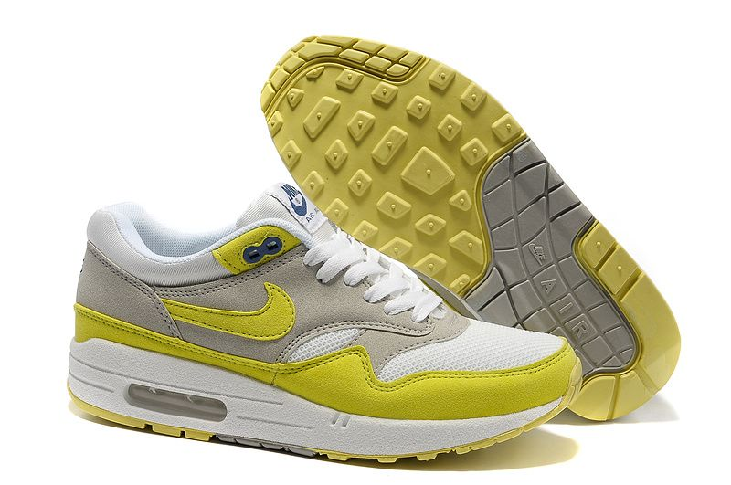 air max 1 gris jaune fluo