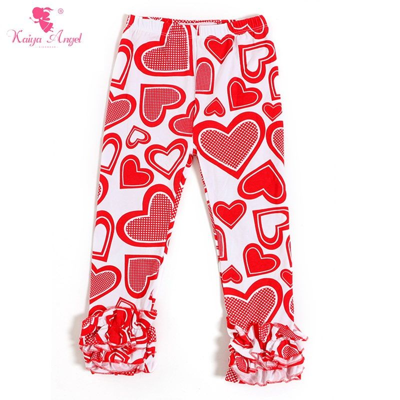 9ee8556cfaa30a 2017 Valentine's day Toddler Girl Clothing Ruffle Icing Pants Red Heart Boutique  Kids Clothing Girls Leggings Ruffle Pants Kids
