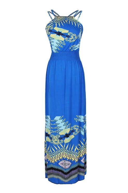 bebe159d683 2LUV Women s Exotic Paisley Peacock Floral Maxi Beach Dress