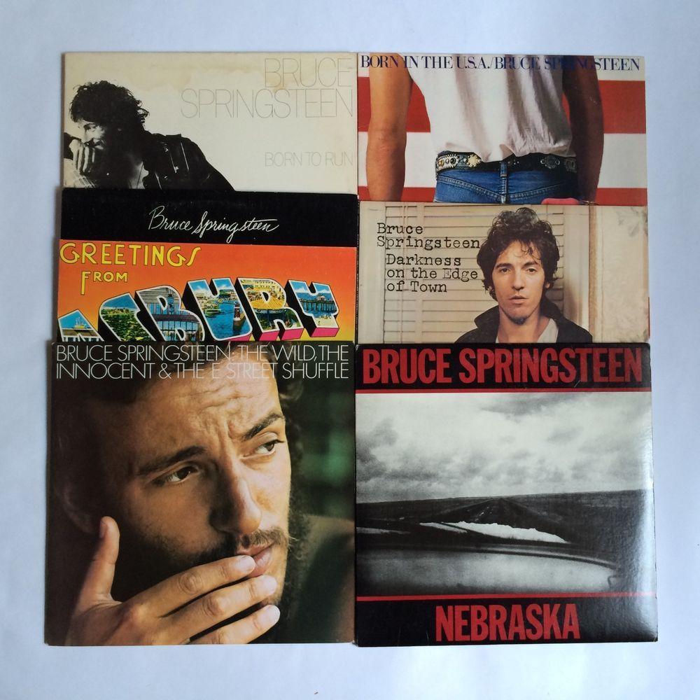 Bruce Springsteen Lot Of 6 Vinyl Record Lp Nebraska Born To Run Born In The Usa Singersongwriter Classic Rock Albums Vinyl Records Singer Songwriter