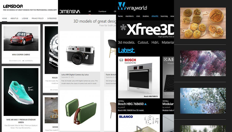 Los mejores sitios de la web para descargar Modelos 3D gratis! | CG ...