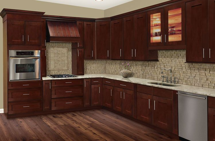 Cherry Hill Raised Panel Kitchen Cabinets Cherry Cabinets