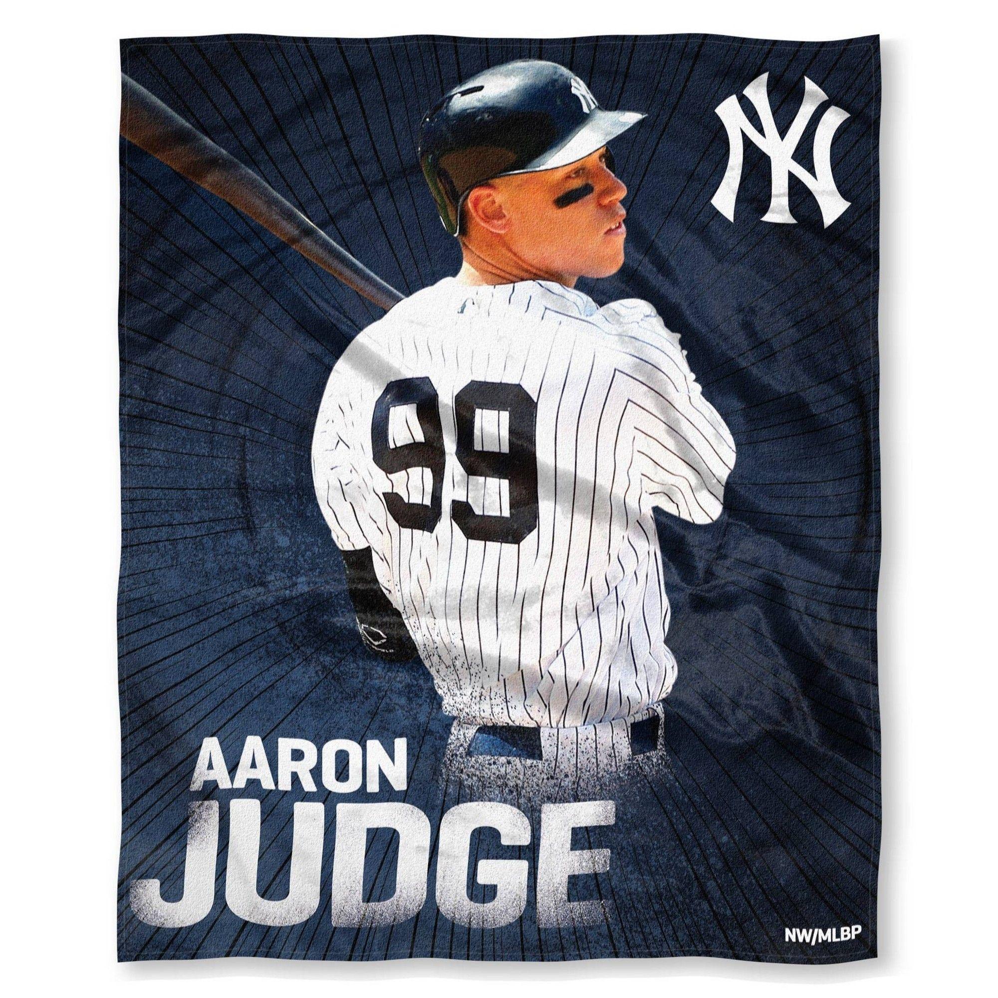 Mlb New York Yankees Aaron Judge Silk Touch Throw Major League Baseball Players New York Yankees Major League Baseball