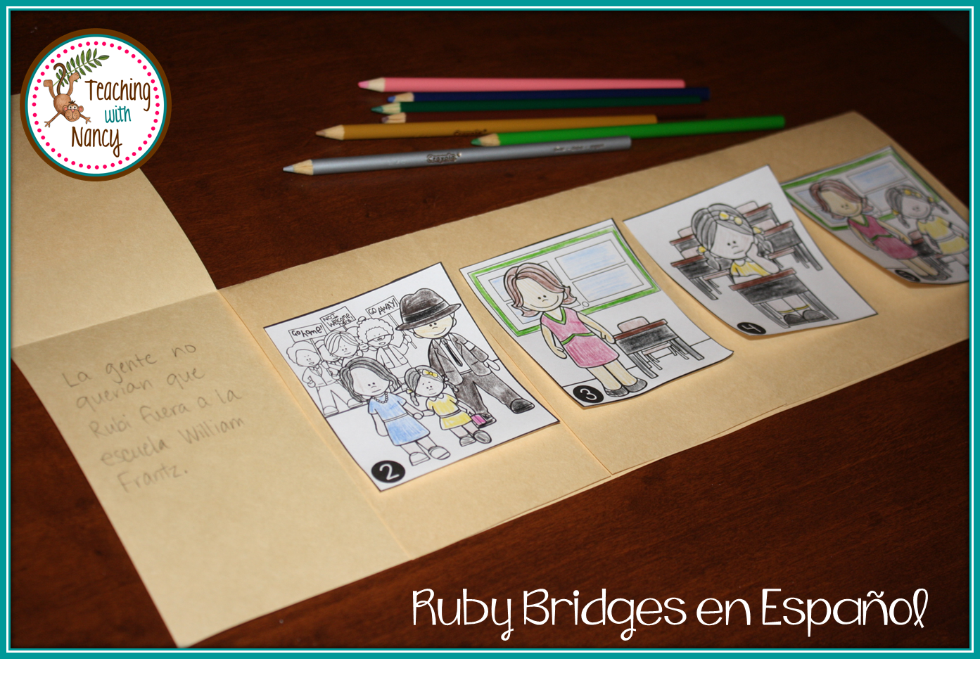 worksheet Ruby Bridges Worksheets For Second Grade spanish ruby bridges social studies and dual language bridges