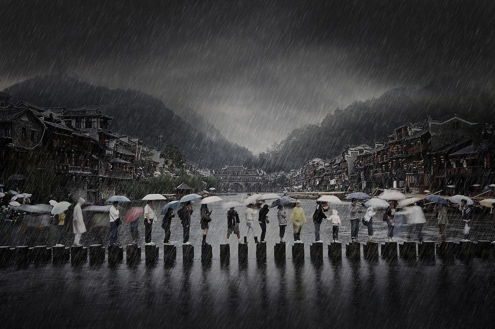Rain In An Ancient Town China By Chen Li Photography Awards