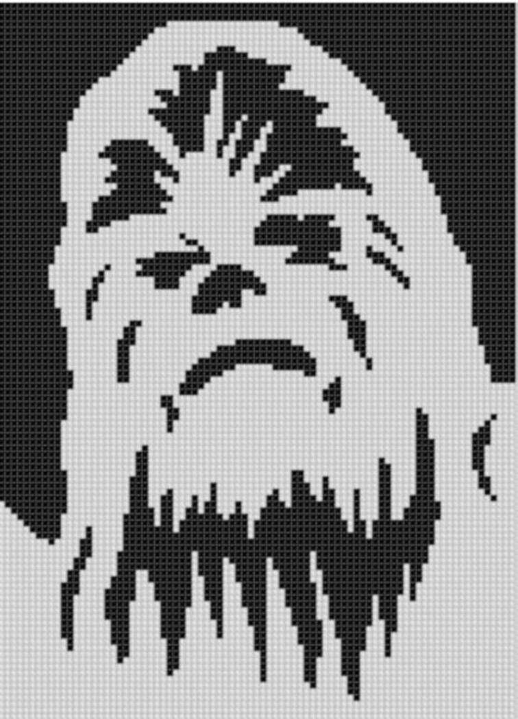 Chewbacca Cross Stitch Pattern | Punto de cruz, Puntos y Bordado