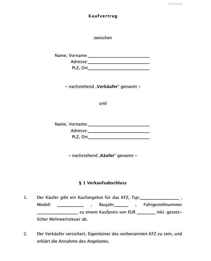 Image Result For Kaufvertrag Fur Ein Gebrauchtes Kraftfahrzeug Lt Sheet Music Image Resume