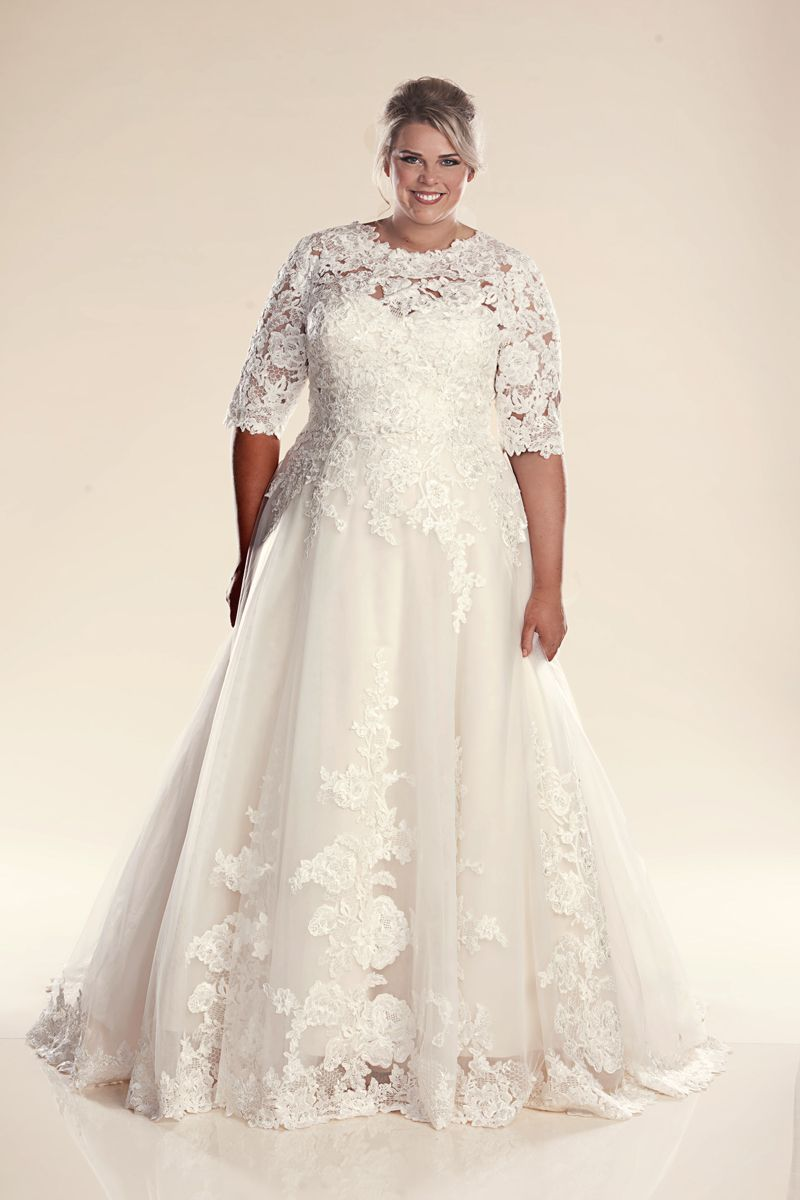 The Paris style of plus size wedding dress with matching ...
