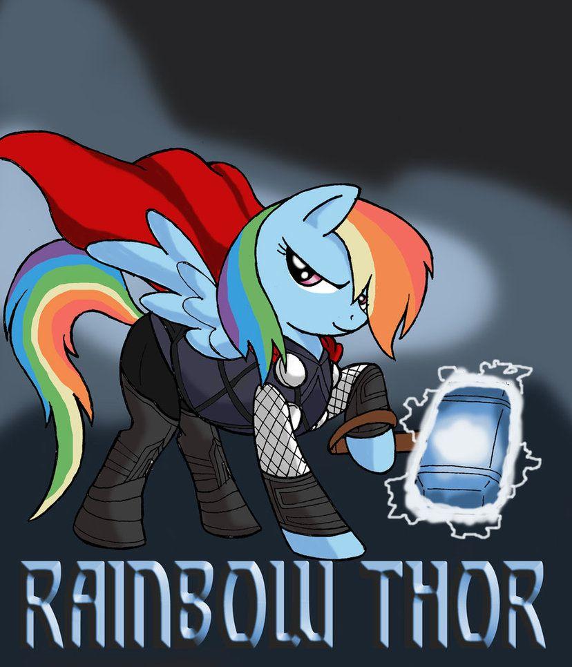 My little Avengers - Rainbow Thor