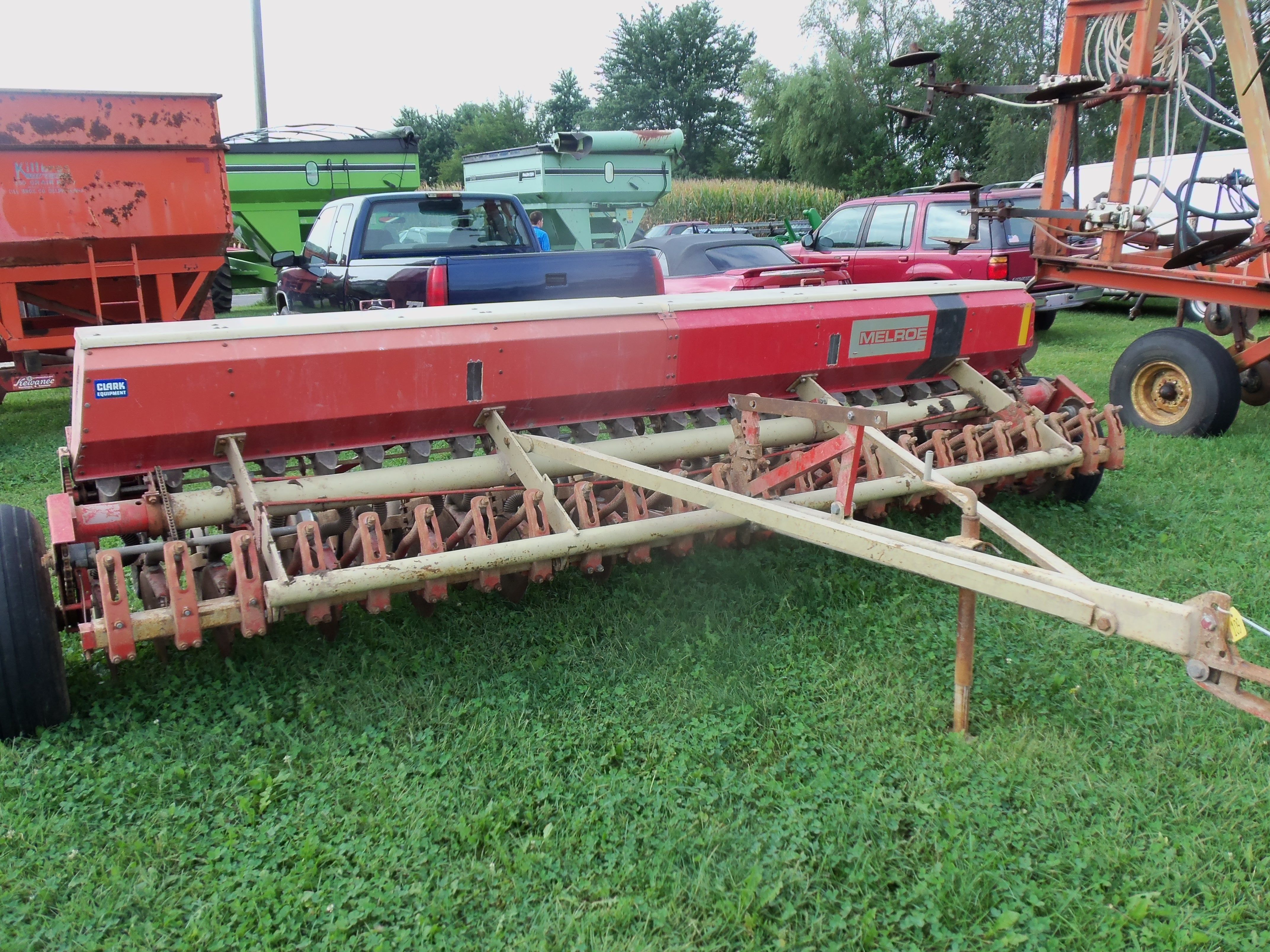 Red Melroe Grain Drill Farm Equipment Vintage Farm Farm
