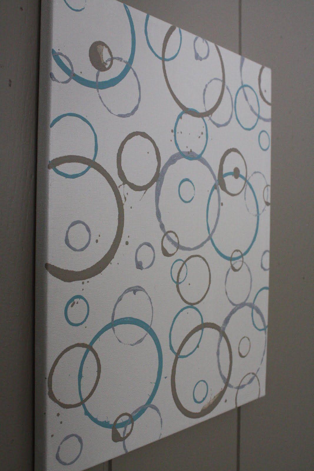 Bathroom Canvas Art: Canvas Art Chaulk Painting Diy