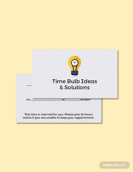 Free Blank Appointment Card Design Pinterest Templates, Card