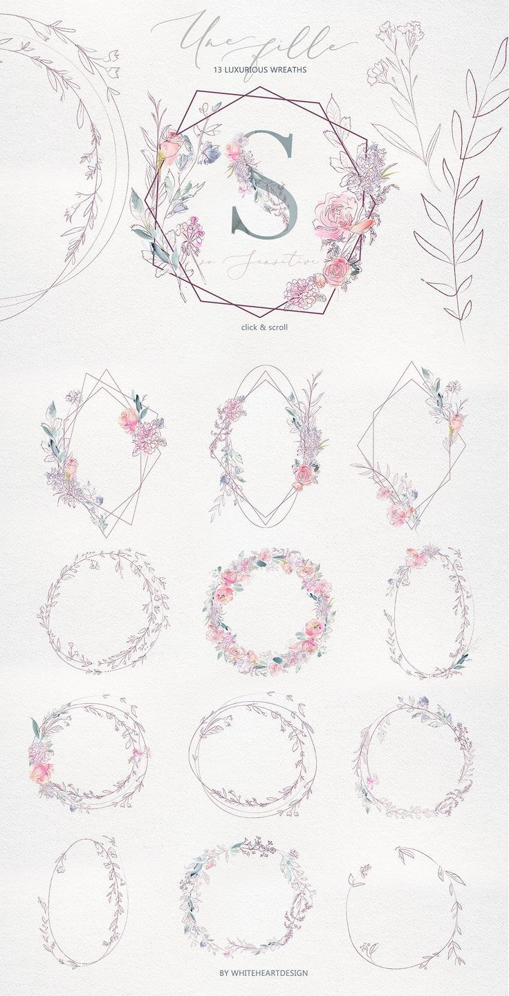 Photo of Une Fille Watercolor Artistic Set von whiteheartdesign auf Creative Market #AD #…