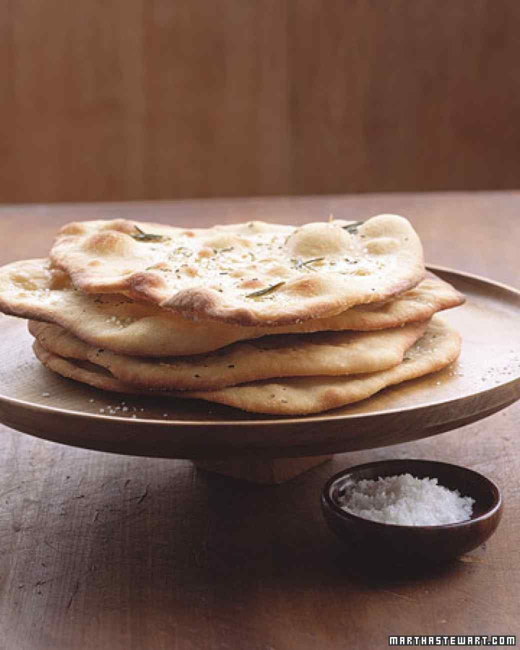 Garlic-Rosemary Flatbread from purchased pizza dough - Martha Stewart