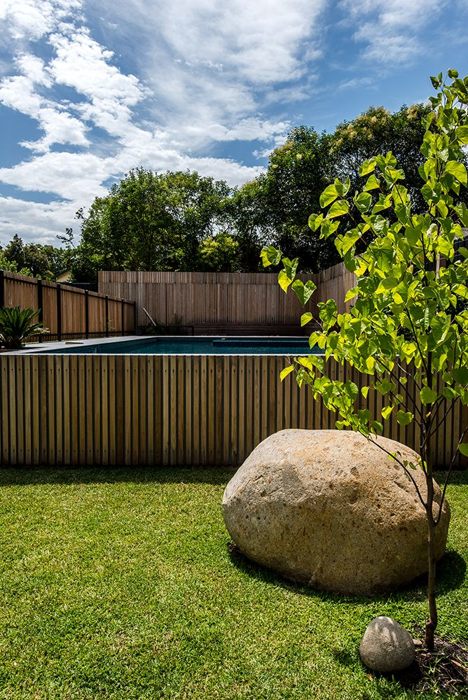 landscape design,family home renovation Pool Fence Pinterest