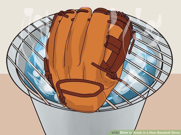 4 Ways To Break In A New Baseball Glove Wikihow Baseball Glove Break In Baseball Glove Gloves