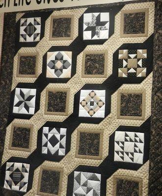 Black and Beige Sampler | Quilting | Sampler quilts, Quilt patterns