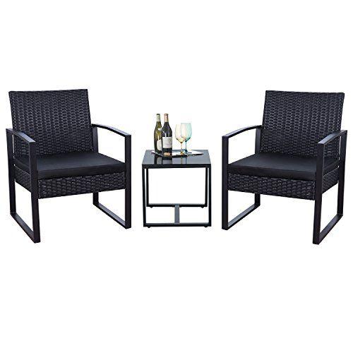 Best Flamaker 3 Pieces Patio Furniture Set Bistro Table Set 400 x 300