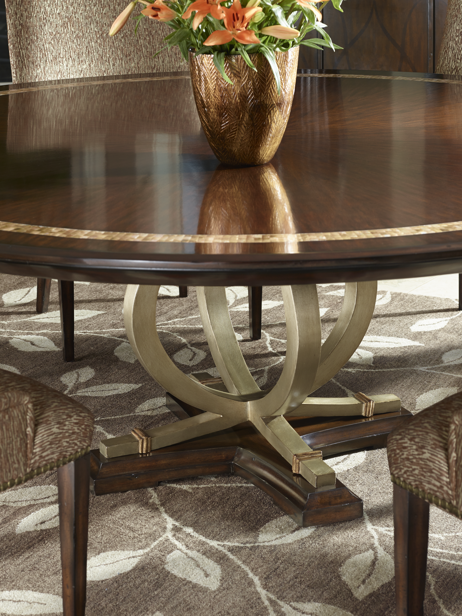 The Beautiful Band On Bolero Round Dining Table From Marge Carson