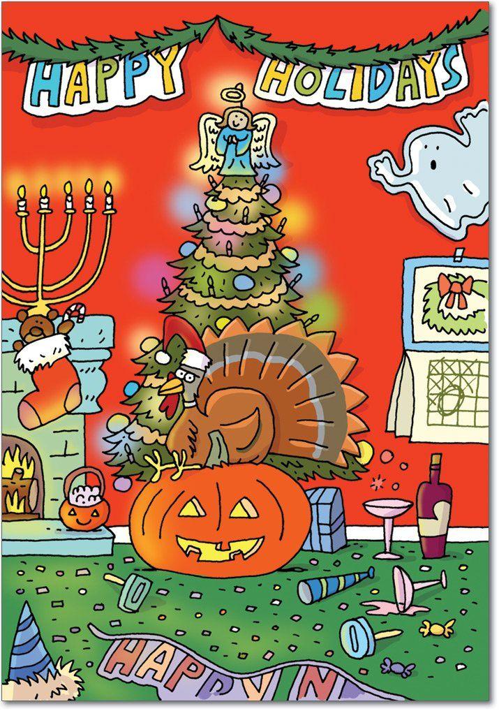 B5758 Box Set of 12 All of Them Makowski Christmas Cartoon