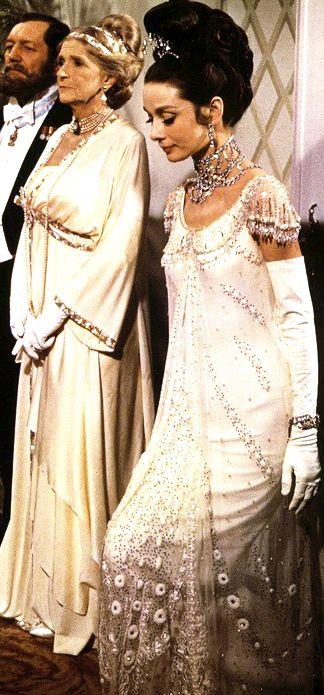 Eliza Doolittle (Audrey Hepburn) at the ball. 'My Fair Lady' (1964). Costume Designer: Cecil Beaton