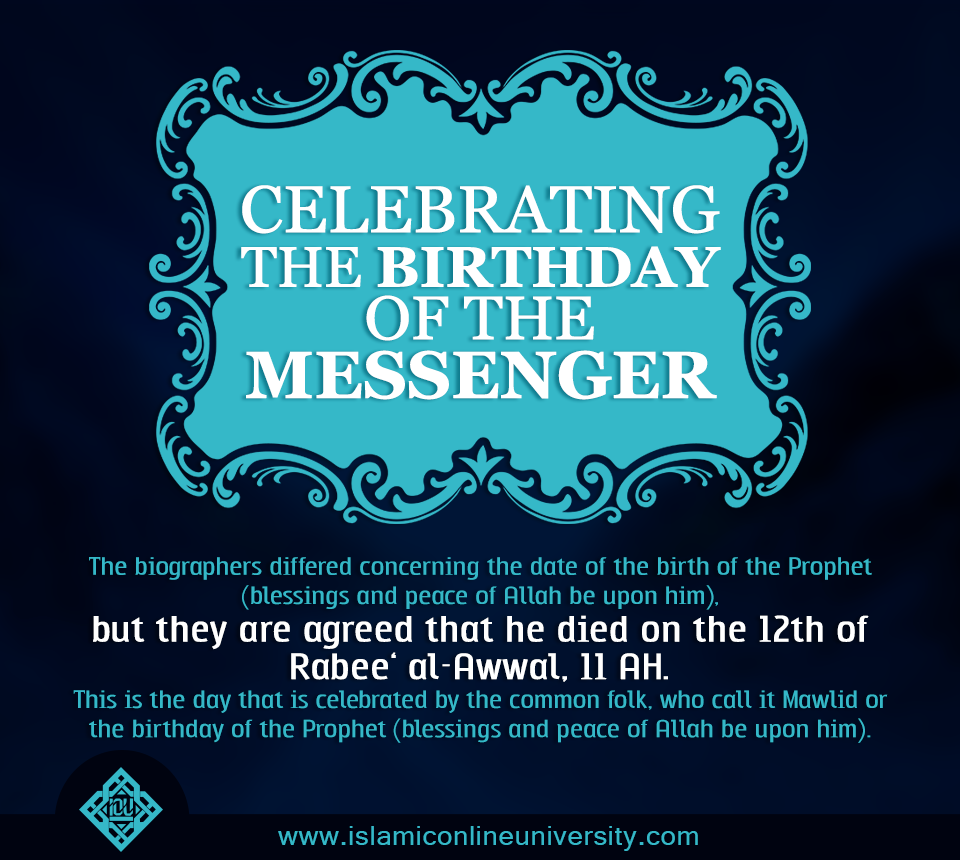 Do not celebrate the birthday of our Prophet (pbuh). The