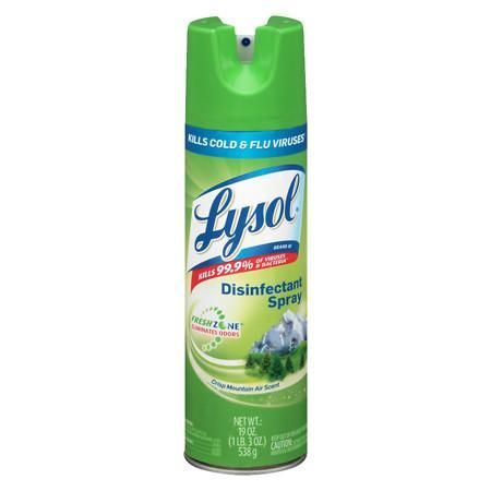 Lysol Disinfectant Spray Crisp Mountain Air 19 Oz Lysol