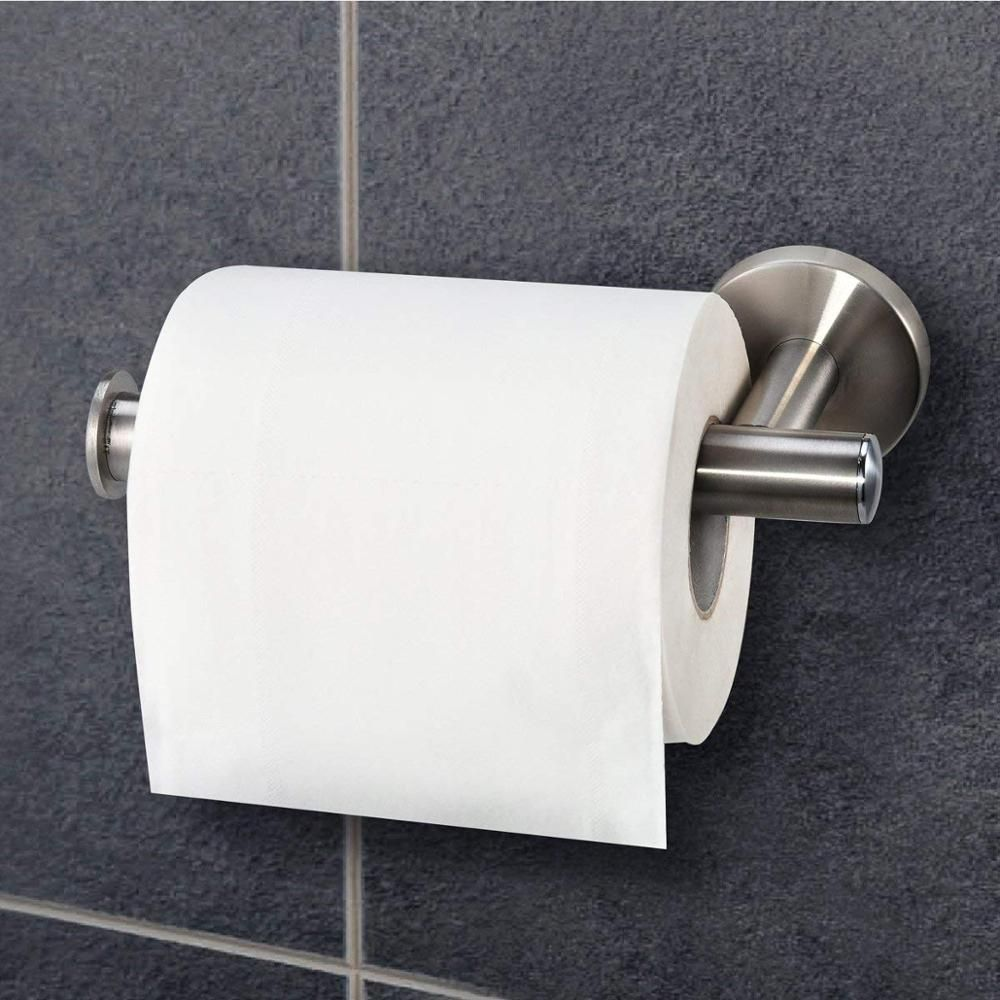 Stainless Steel Toilet Paper Holder Kitchen Hanger Tissue Roll Towel Rack Toilet Wall Mounted Black Toilet Paper Holder Black Toilet Paper Toilet Paper