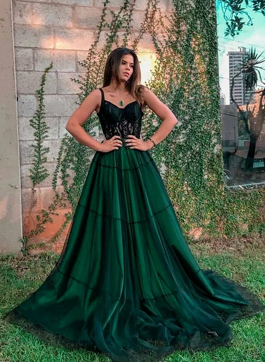 45++ Emerald green prom dress information