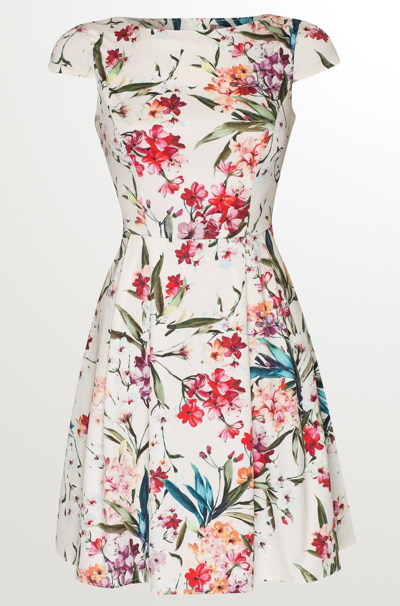 Kleid mit Blumen-Print (With images) | Flower print dress ...