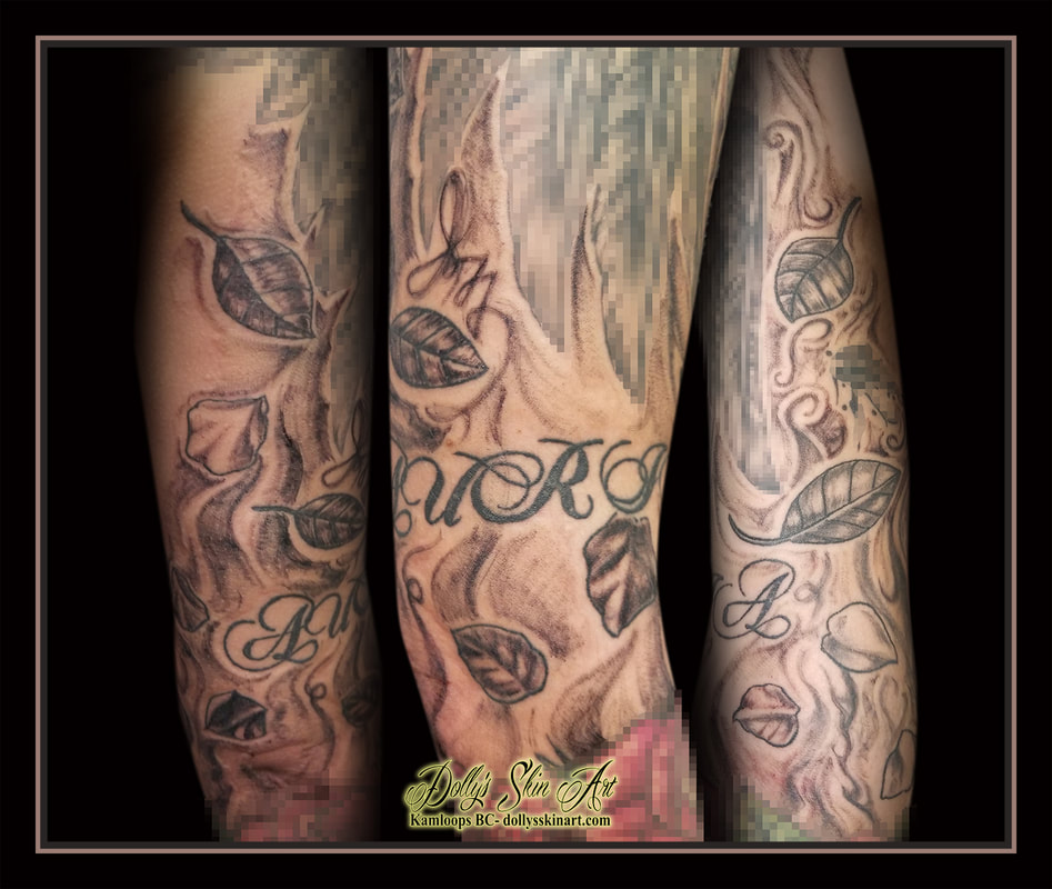 Some filler for Aly in 2020 Smoke tattoo, Black and grey