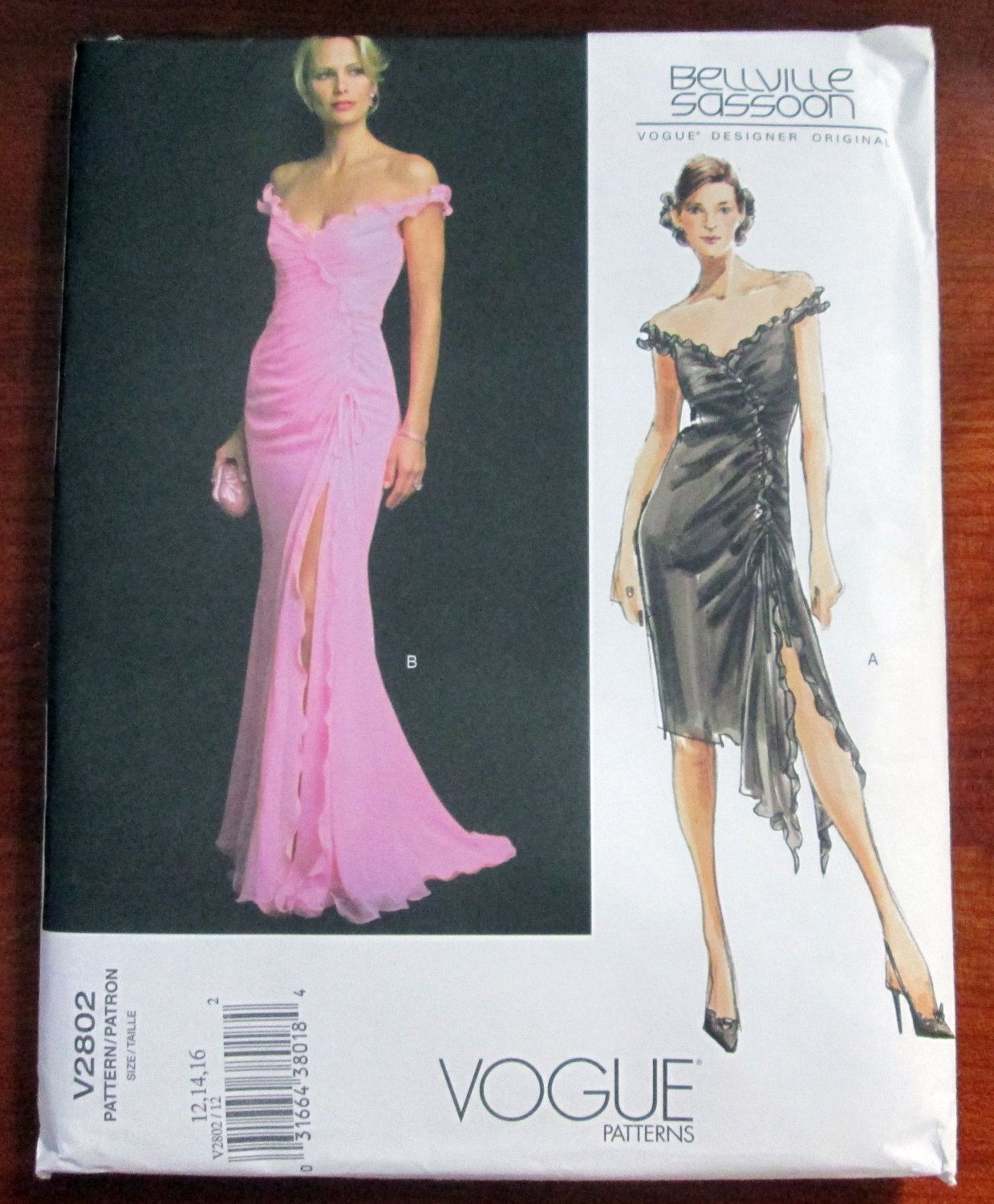 Evening Gown off the shoulder Prom Dress Bellville Sassoon sewing ...