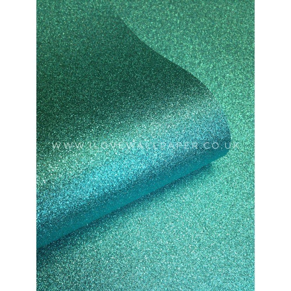 Muriva Sparkle Hot Teal Glitter Wallpaper (701355