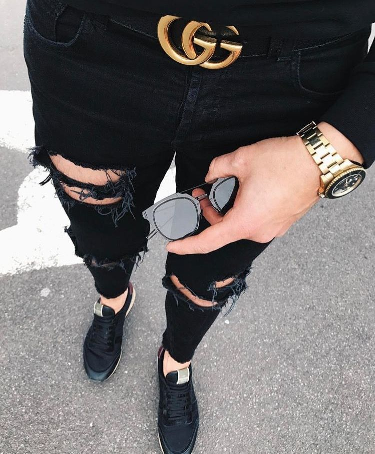 2ab552a37bc2a Gucci on repeat Calca Jeans Masculinas