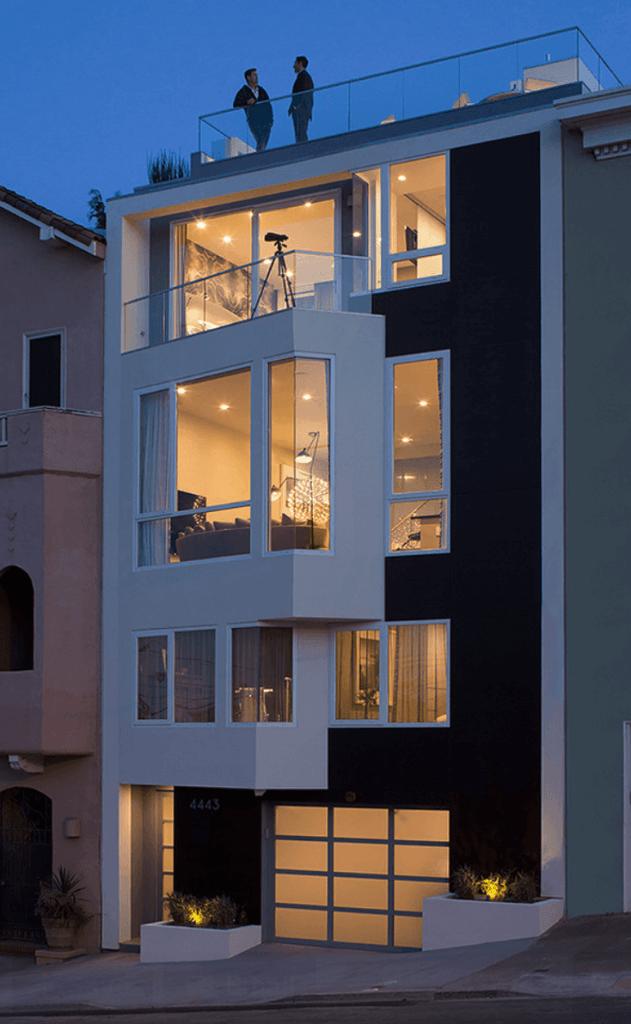 Casas bonitas 3 andares design exterior de casa design for Casa design moderno