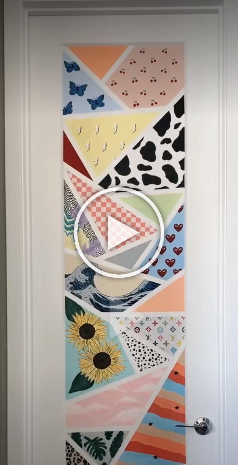 Tiktok Painting Aesthetic Bedroom Stencil Ideas Tiktok Painting Aesthetic Painting Wall Wall Tumblr Room Decor Room Wall Painting Diy Canvas Art Painting