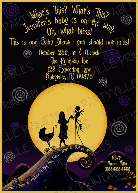 Nightmare before christmas baby shower jack sally little monster nightmare before christmas baby shower by ezpartyprintables filmwisefo
