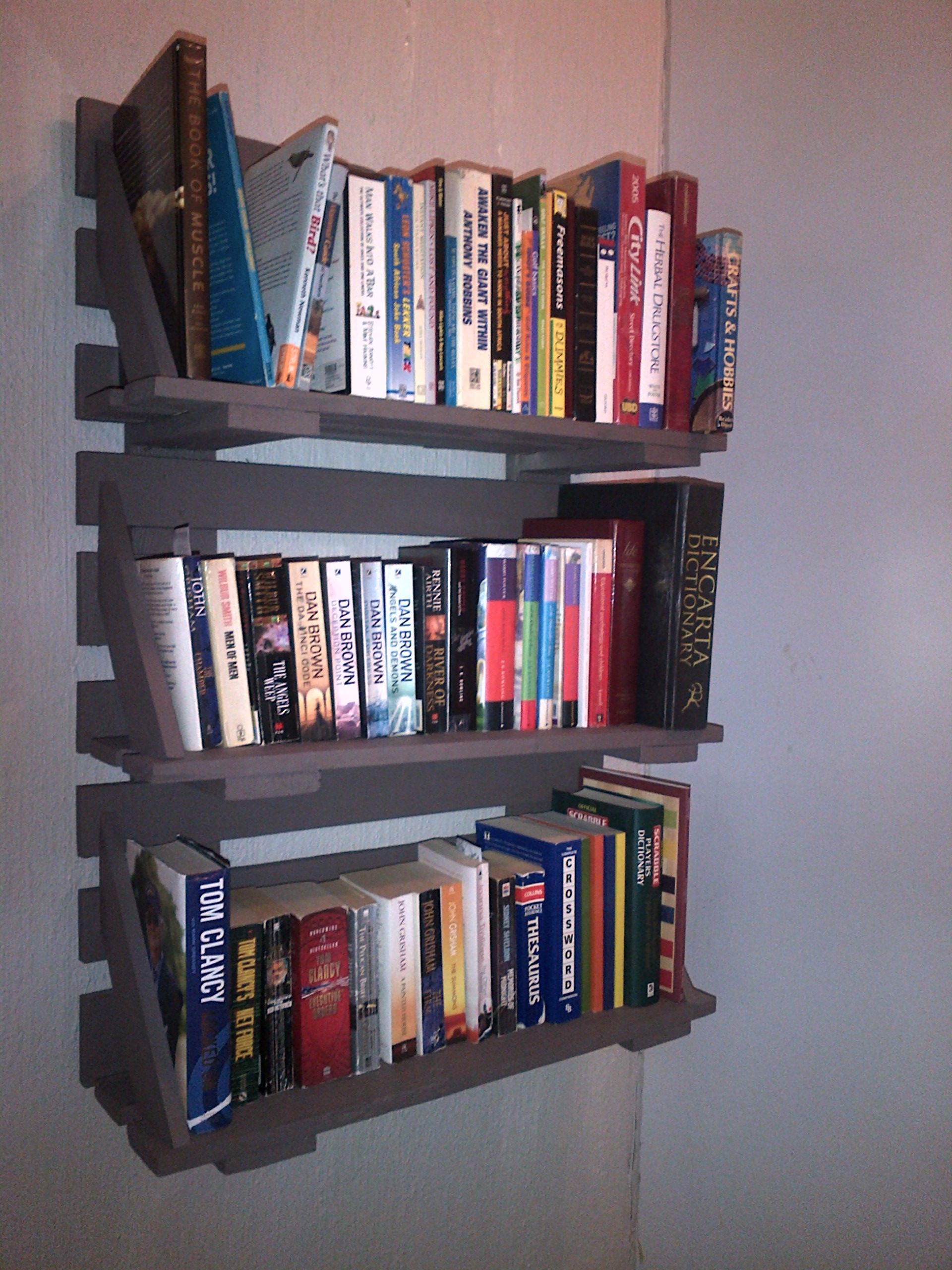 wall mounted bookshelf made from a pallet wall mounted on wall mount bookshelf id=26920
