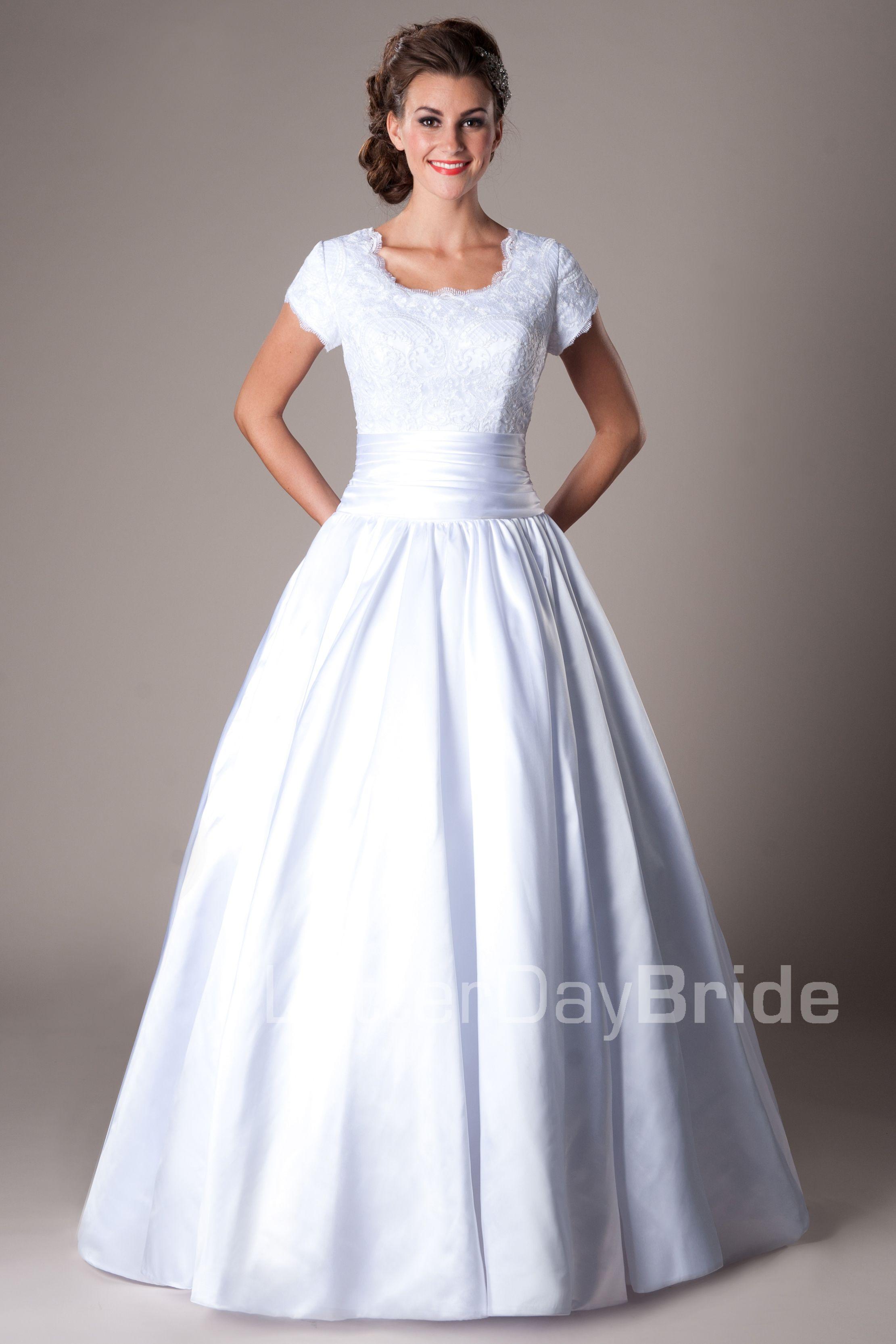 Modest Wedding Dresses : Mormon LDS Temple Marriage - Castleford ...
