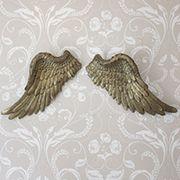 Gold Effect Angel Wings