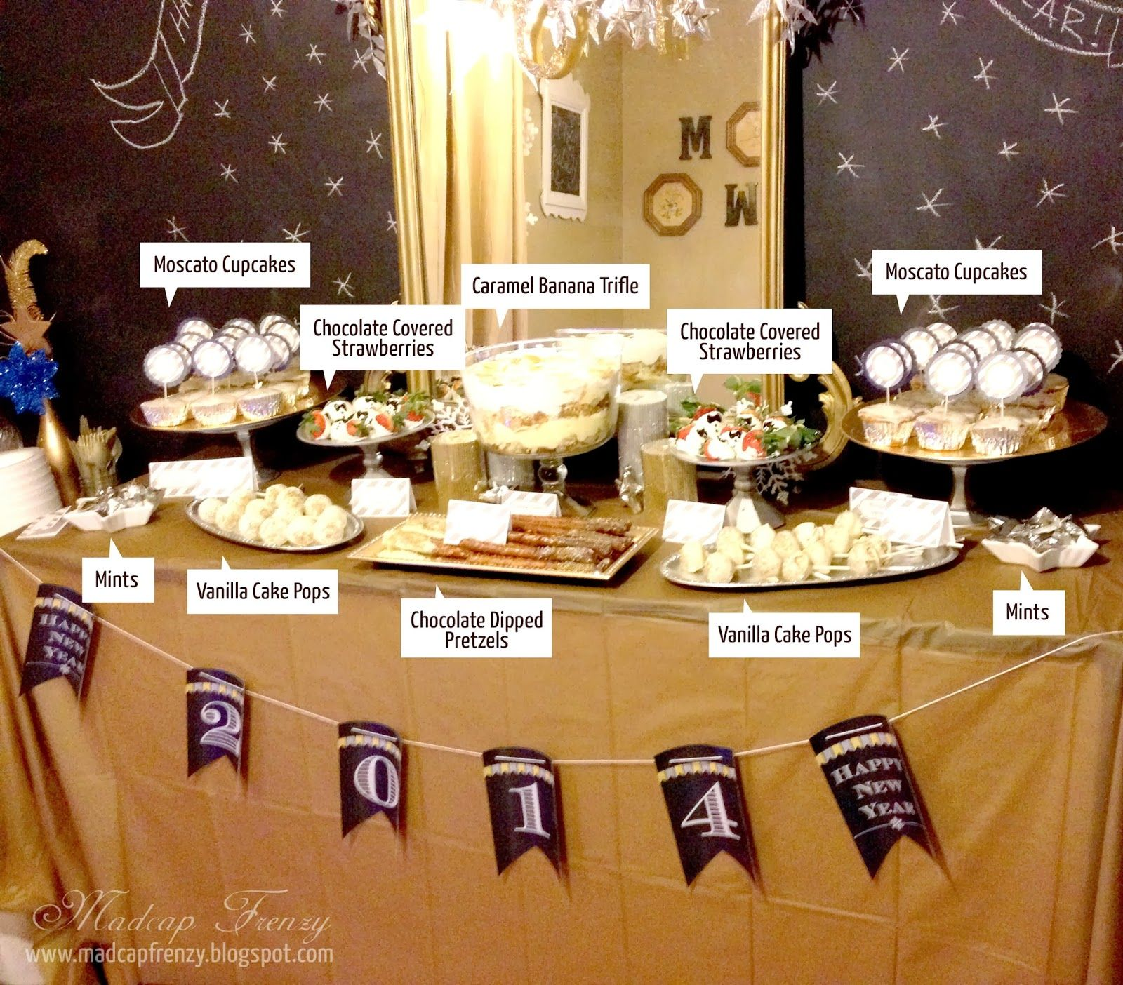 Madcap Frenzy S Suits And Sparkles New Years Eve Party Anatomy Of A Dessert Table Setup