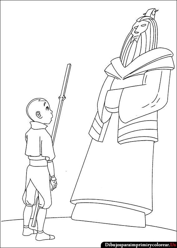 Dibujos de Avatar - la leyenda de Aang para Imprimir y Colorear ...