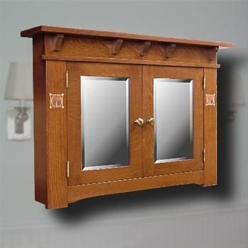 Craftsman style medicine cabinets cabinet cabinetry for Craftsman cabinet plans